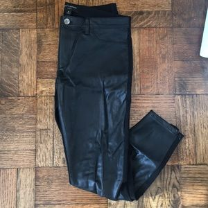 Banana Republic Sloan Fit Pants with Faux leather!